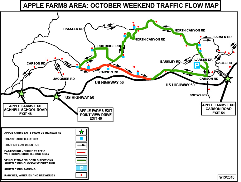 Apple Farms October Traffic Flow Map